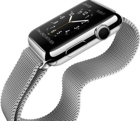 Apple watch con caja de acero y milanesa