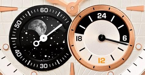 Girard-Perregaux Traveller Gran Fecha, Fases lunares y GMT - detalle