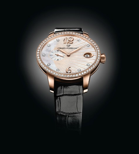 Girard-Perregaux Cat's Eye Small Second correa de piel frontal