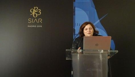 Carole Forestier durante su conferencia