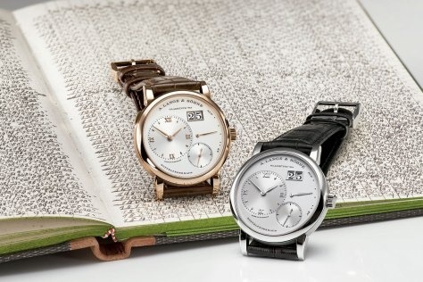 A Lange and Sohne Lange 1 oro rosa y platino