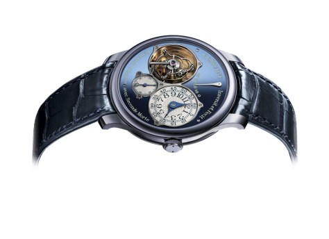 F P Journe Tourbillon Souverein Bleu perfil