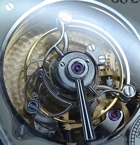 Tourbillon Souverein detalle del tourbillon