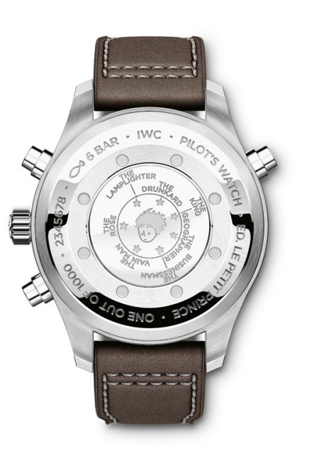 IWC Pilots Watch Double Chronograph Edition Le Petit Prince - reverso