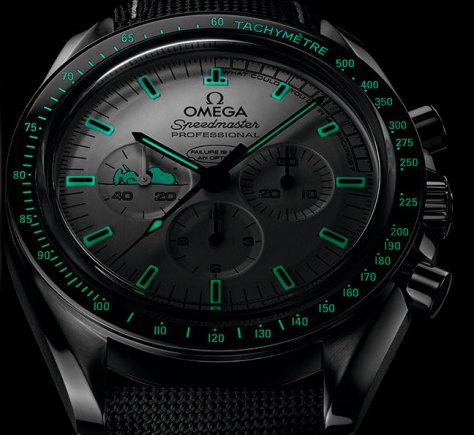 Omega Speedmaster Apollo 13 Silver Snoopy Award - SuperLuminova
