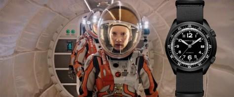 The Martian Jessica Chastain Hamilton Khaki Pilot Pioneer Aluminium