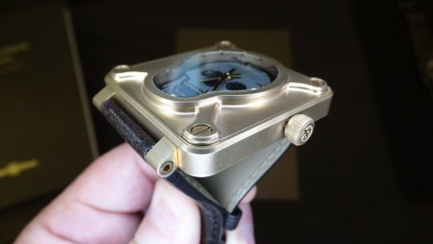 Bell and Ross BR 01 Skull Bronze perfil