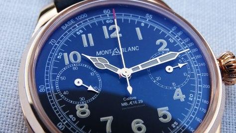 Montblanc 1858 Chronograph Tachymeter Edición Limitada detalle del logotipo