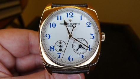 Vacheron Constantin Harmony Dual Time oro rosa frontal