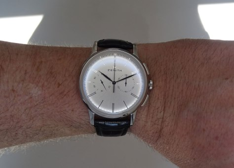 Zenith Elite Chronograph Classic acero en la muñeca