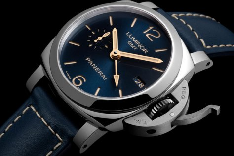 Panerai-blue-dial-Luminor-1950-3-Days-GMT-Automatic-Acciaio-Horasyminutos