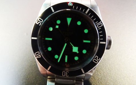 Tudor Heritage Black Bay Black SuperLuminova