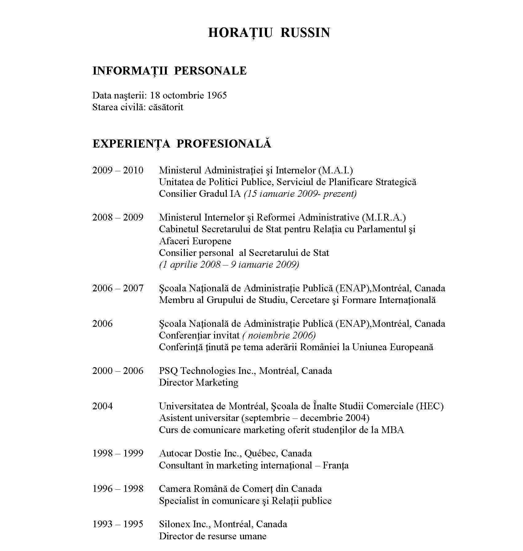 curriculum vitae format doc romana professional resumes example