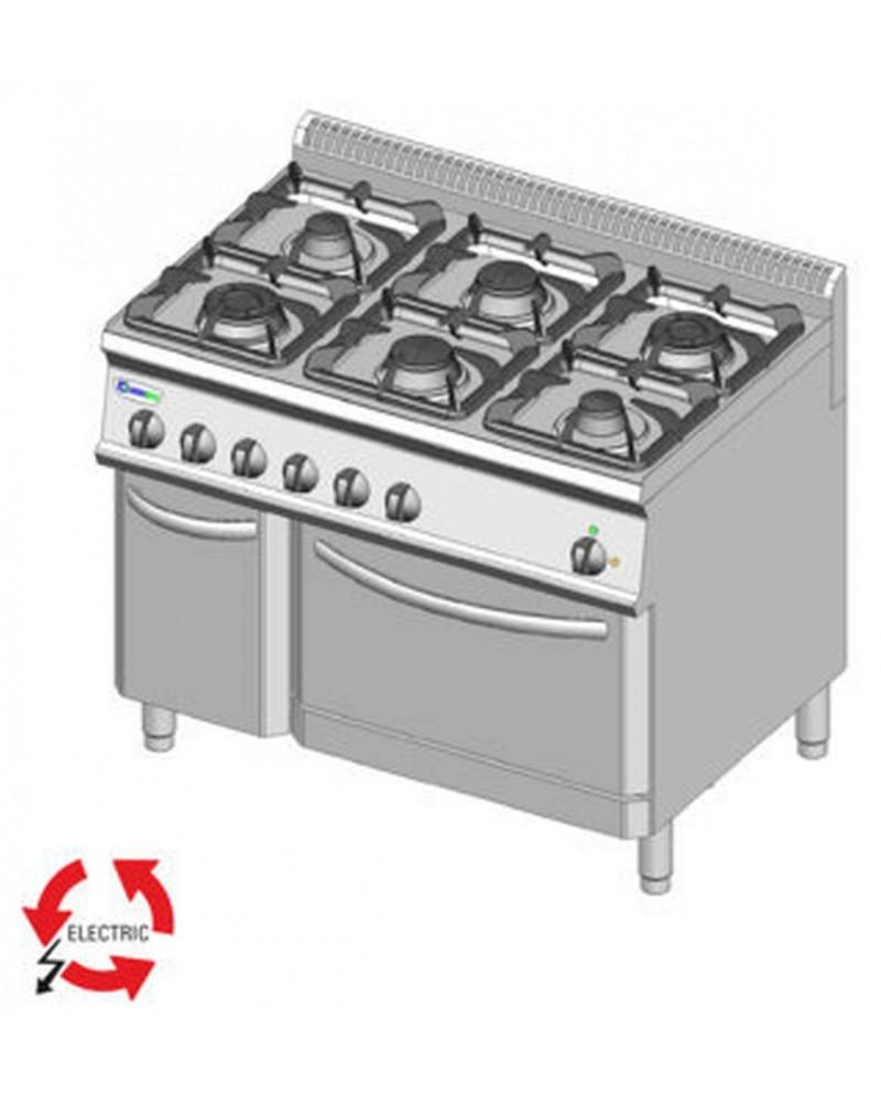 Cucina A Gas 6 Fuochi Prezzi | Cucina Smeg 6 Fuochi