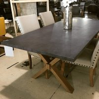Zinc-Top Table - Horizon Home Furniture