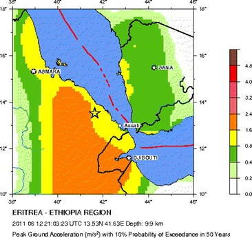 5.7-magnitude_Earthquake on Eritrea Ethiopia Sunday June 12 around 9 PM London Time