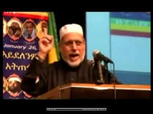 Imam Sheik Shaker Elsayed advocating violence in a meeting of Ethiopian Muslims and activists