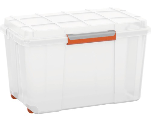 Kunststoffbox Transparent Kunststoffbox Atlas Xl Mit Deckel, 106 Liter, Transparent