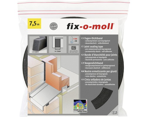 Hornbach Breda Openingstijden Fix-o-moll Compriband Antraciet Voegbreedte 4-5 Mm 15 M