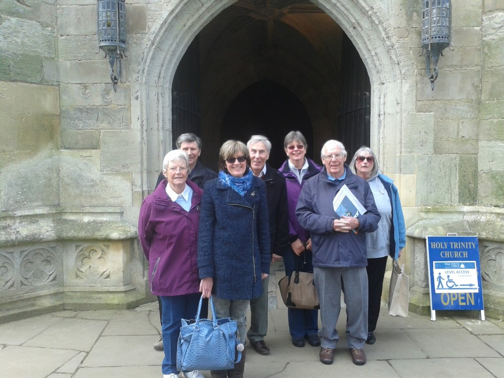 L-R: Eileen Drew, Lionel Woods, Rosemarie Edwards, John Stephenson, Jane Harper,John Thornhill and Terry Thornhill.