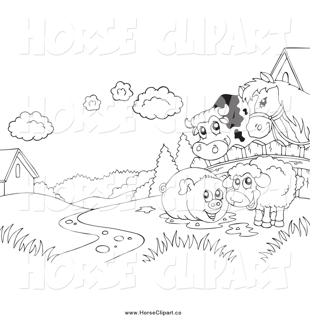 Barnyard Clipart Black And White The Gallery For Gt Black And White Farm Clip Art Free