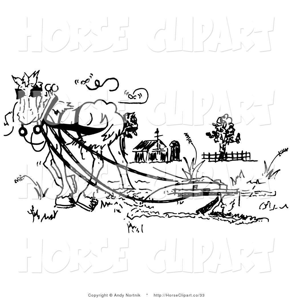 Barnyard Clipart Black And White Royalty Free Farm Stock Horse Designs