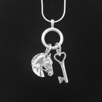 Charm Holder with Sterling Chain - HorseJewelry.com