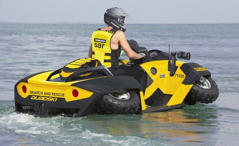 Quadski can be used for multiple applications including search and rescue