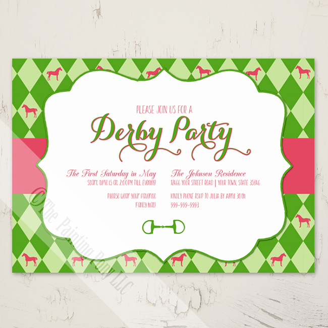 Equestrian Party Invitations for Spring Horses  Heels