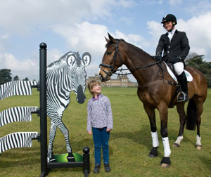 Ellen Cole with Michael Jackson and the new zebra fence