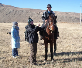 The University of Cambridge's Dr Vera Warmuth says research shows that the original founder population of domestic horses was established in the western Eurasian Steppe.