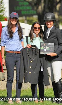 LeeAnne Colamarino and Erin Krasner award Beezie Madden the Dyer Equestrian Leading Lady Rider Award.