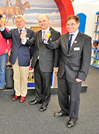 Graham Cory (centre), pictured with Patrick Print (left) and Dr Phil Wadey, right, during the launch of the BHS's new look in April 2010.