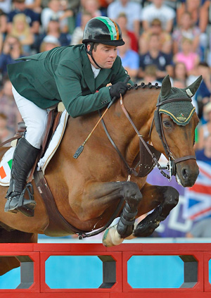 Cian O'Connor, pictured on Blue Loyd at the London 2012 Olympic Games.