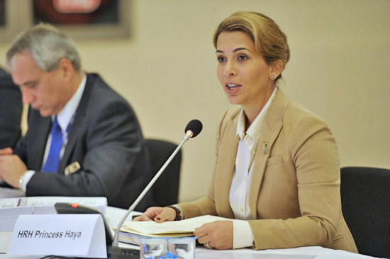 FEI President Princess Haya announces the 16 million Euro four-year sponsorship package for the Furusiyya FEI Nations Cup.