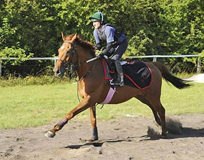 a jockey with GPS and inertial sensors