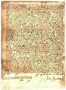John Pynchon's undeciphered document