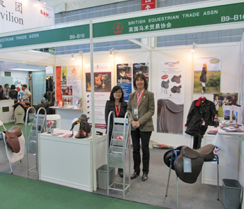 BETA executive director Claire Williams at the BETA stand at the China Horse Fair.