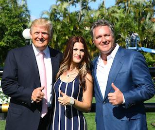 Donald Trump, Cassadee Pope, and Mark Bellissimo.