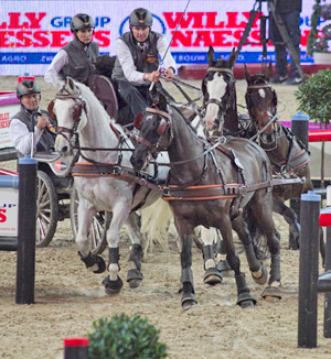Koos de Ronde won the FEI World Cup™ Driving competition in Mechelen (BEL) for the fourth time.