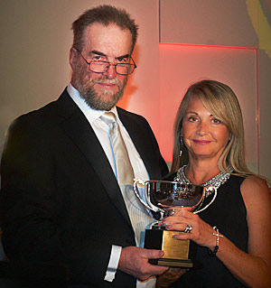 Canadian Warmblood Horse Breeders Association President  Chris Gould and Nikki Lishman of Canterbrooke Farms