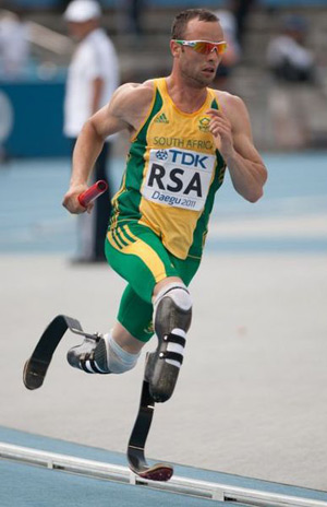 Oscar Pistorius at the 2011 World Athletics Championships in Korea.