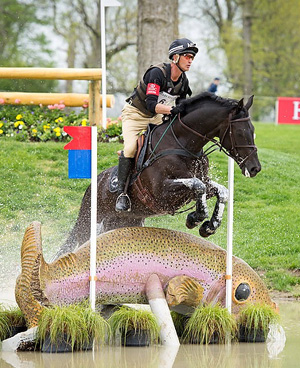 Andrew Nicholson and Quimbo lead following the cross-country at the Kentucky Three-Day Event. ©  StockImageServices.com/FEI