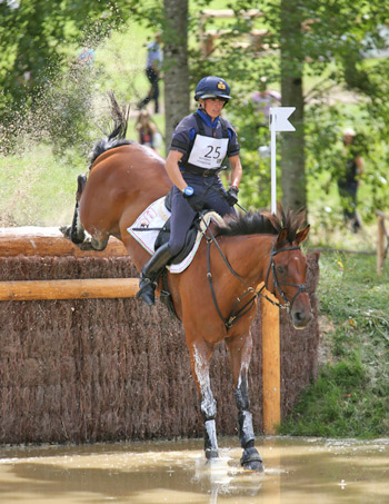 Italy's Vittoria Panizzon and Merlots Magic led from start to finish to claim victory in the eventing test event at Haras du Pin and Caen in the build-up to next year's World Equestrian Games.