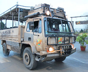 One of Zufari's safari trucks.