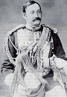 Frederick Burnaby in the uniform of the Royal Horse Guards.