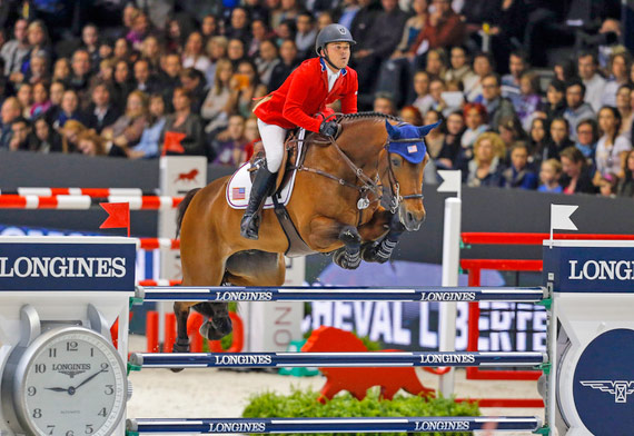 Kent Farrington and Voyeur galloped to a thrilling victory in the second leg of the Longines FEI World Cup Jumping Final at Lyon, France, on Saturday night.