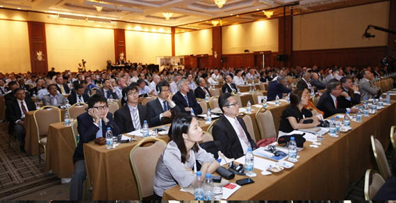 Delegates at the 35th Asian Racing Conference at the Hong Kong Convention and Exhibition Centre.
