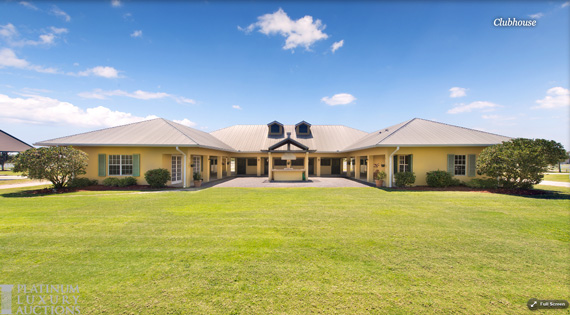 The former clubhouse of the Vero Beach Polo Club is on the property. Photos: Platinum Luxury Auctions