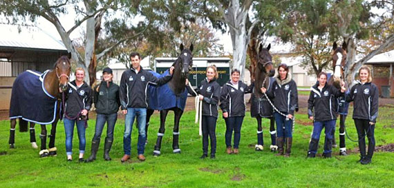 The New Zealand team on arrival at Werribee,